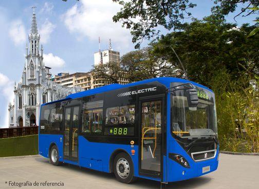 Bus Eléctrico en la Ermita